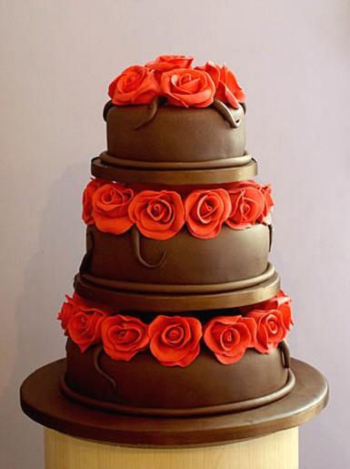 Červené torty inšpirácie - Obrázok č. 17