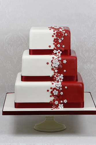 Červené torty inšpirácie - Obrázok č. 19