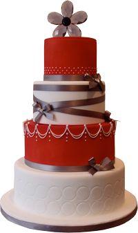 Červené torty inšpirácie - Obrázok č. 24