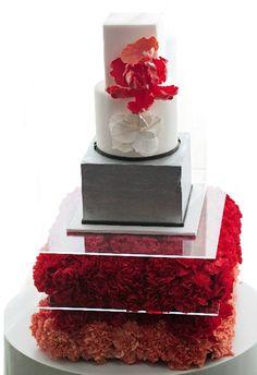 Červené torty inšpirácie - Obrázok č. 26