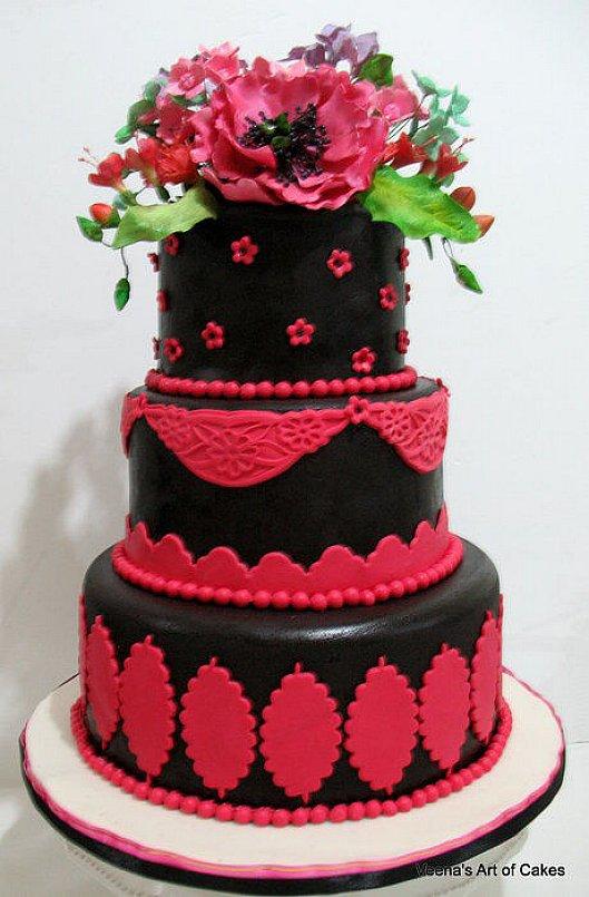 Červené torty inšpirácie - Obrázok č. 27