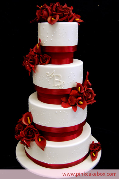 Červené torty inšpirácie - Obrázok č. 28