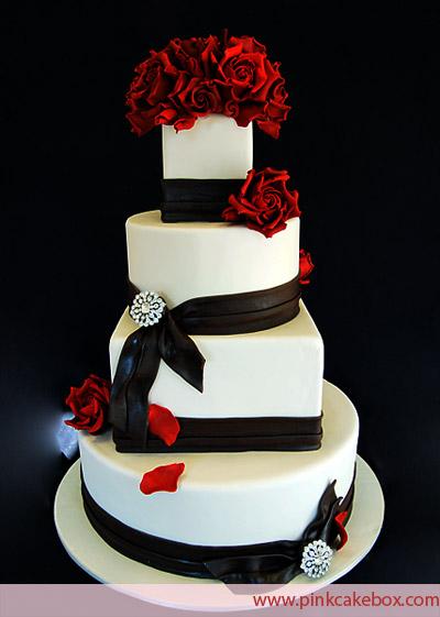 Červené torty inšpirácie - Obrázok č. 33