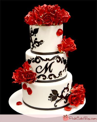 Červené torty inšpirácie - Obrázok č. 34