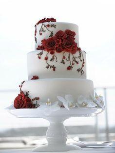Červené torty inšpirácie - Obrázok č. 37