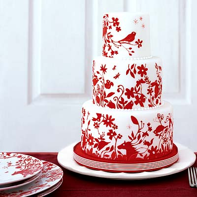 Červené torty inšpirácie - Obrázok č. 41