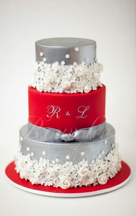 Červené torty inšpirácie - Obrázok č. 42