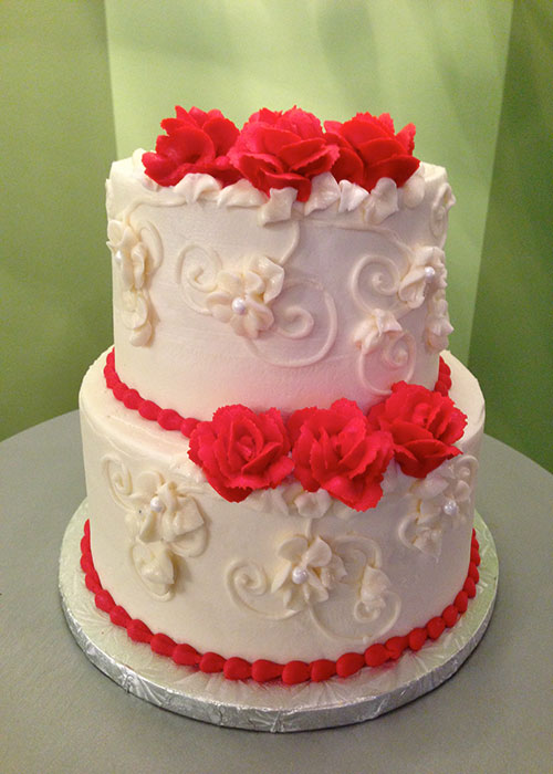 Červené torty inšpirácie - Obrázok č. 45