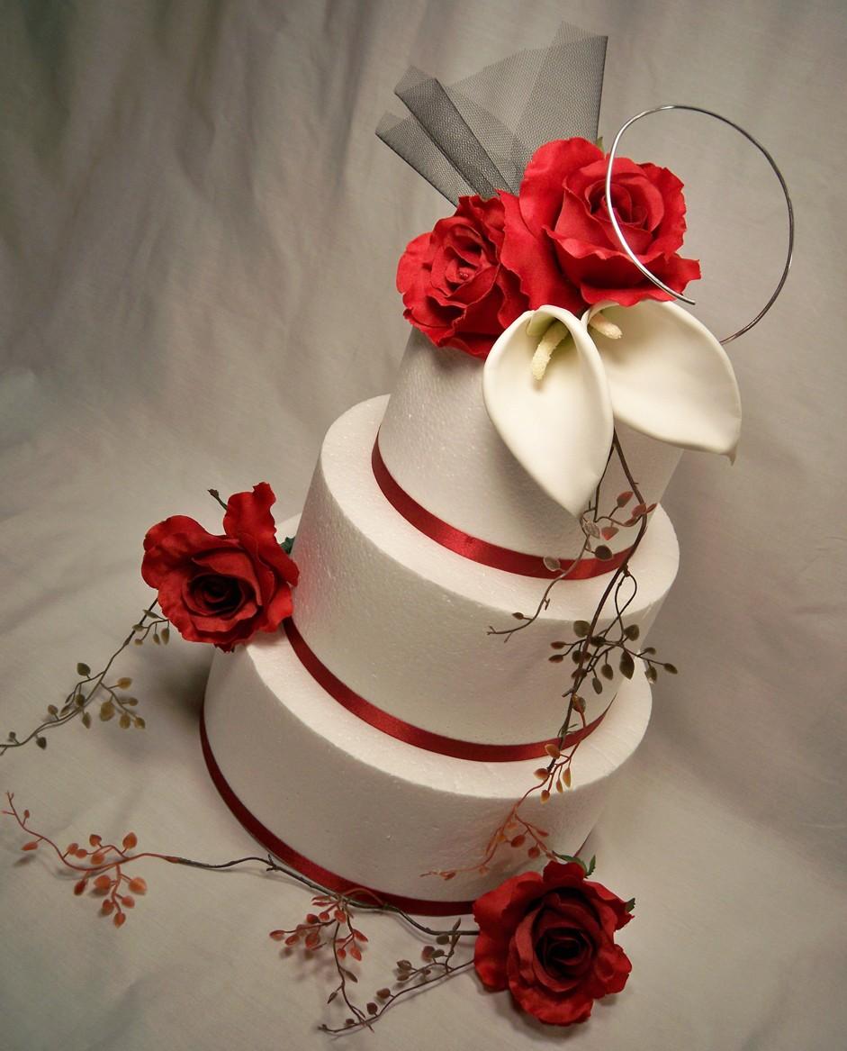 Červené torty inšpirácie - Obrázok č. 49