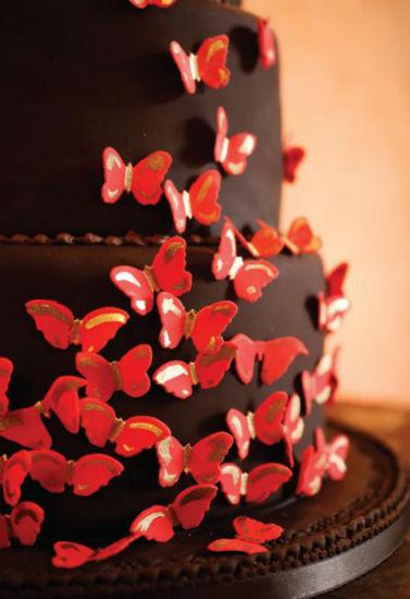 Červené torty inšpirácie - Obrázok č. 58