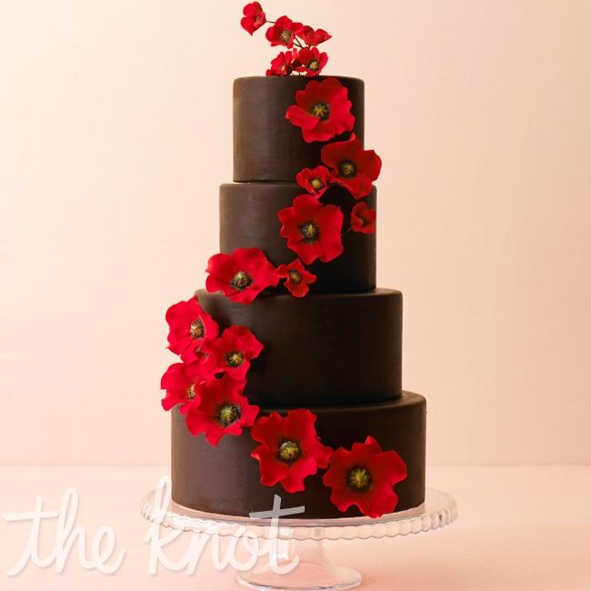 Červené torty inšpirácie - Obrázok č. 60