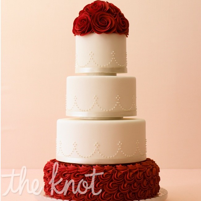 Červené torty inšpirácie - Obrázok č. 61