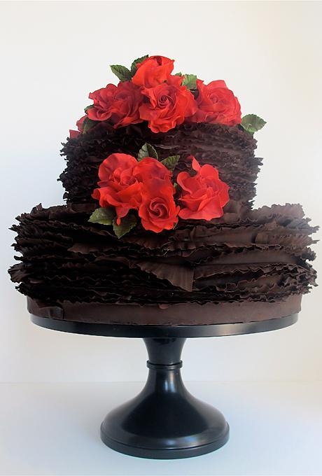 Červené torty inšpirácie - Obrázok č. 62
