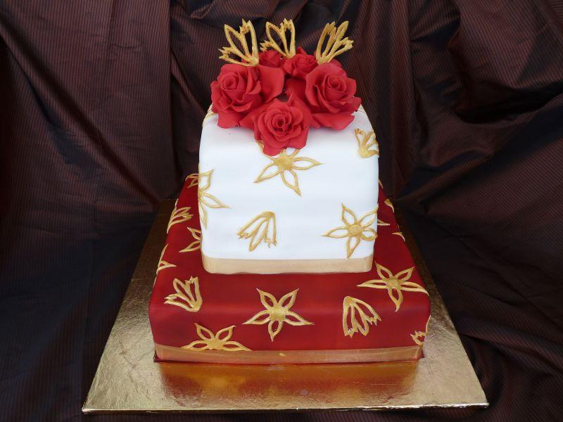 Červené torty inšpirácie - Obrázok č. 63