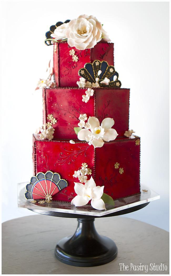 Červené torty inšpirácie - Obrázok č. 64
