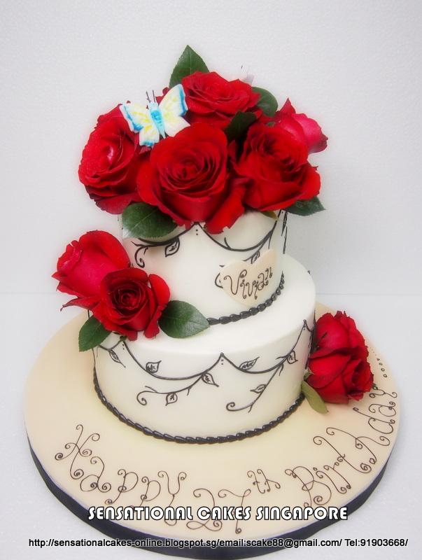Červené torty inšpirácie - Obrázok č. 65