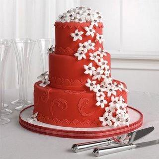 Červené torty inšpirácie - Obrázok č. 67