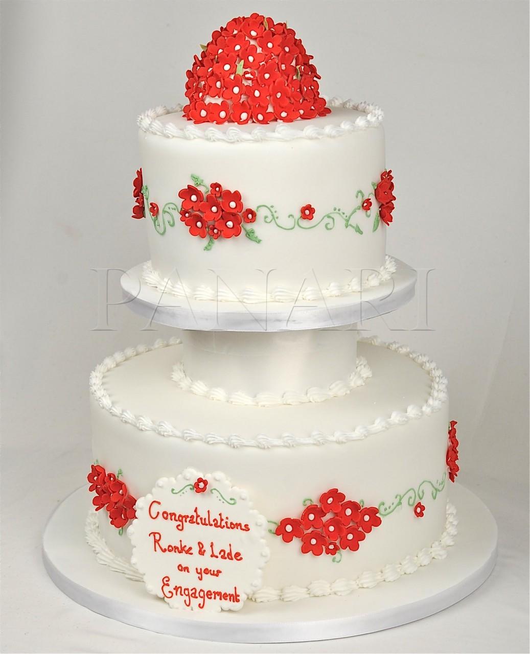 Červené torty inšpirácie - Obrázok č. 69