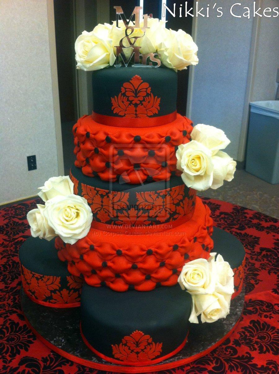 Červené torty inšpirácie - Obrázok č. 70