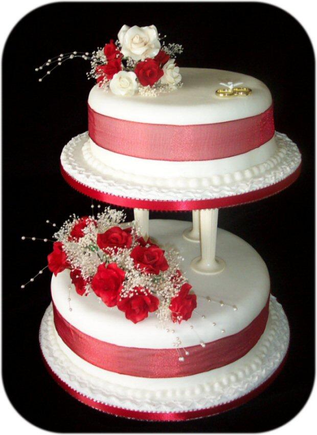 Červené torty inšpirácie - Obrázok č. 72