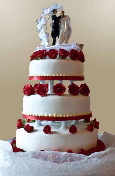 Červené torty inšpirácie - Obrázok č. 75