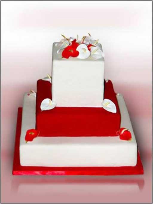 Červené torty inšpirácie - Obrázok č. 76