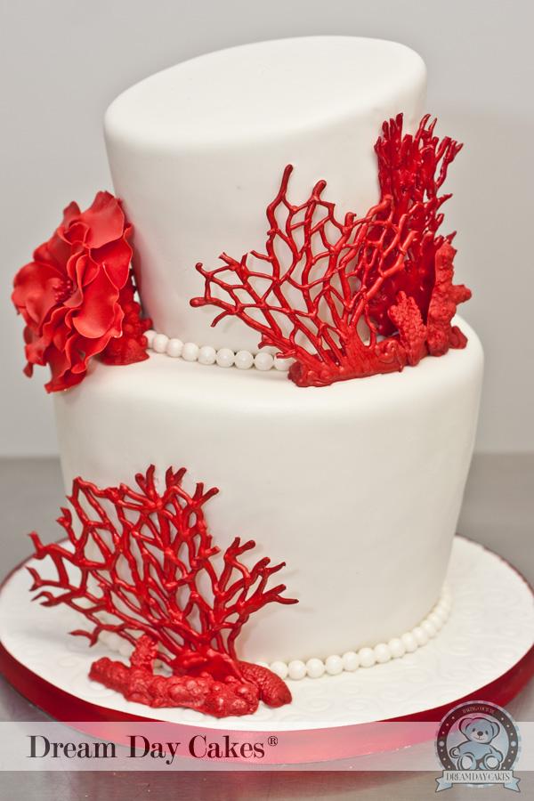 Červené torty inšpirácie - Obrázok č. 77