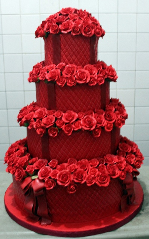 Červené torty inšpirácie - Obrázok č. 78
