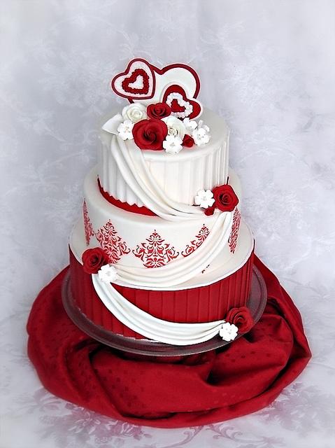 Červené torty inšpirácie - Obrázok č. 80