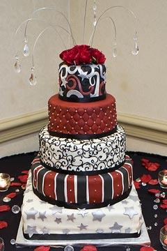 Červené torty inšpirácie - Obrázok č. 82