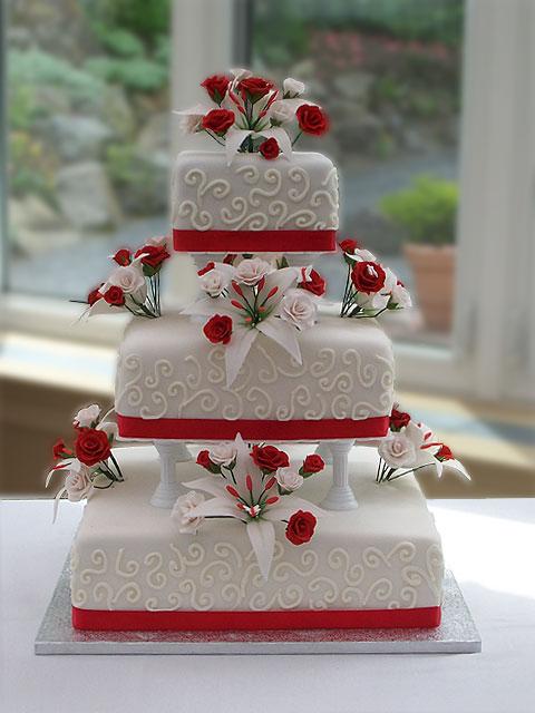 Červené torty inšpirácie - Obrázok č. 84