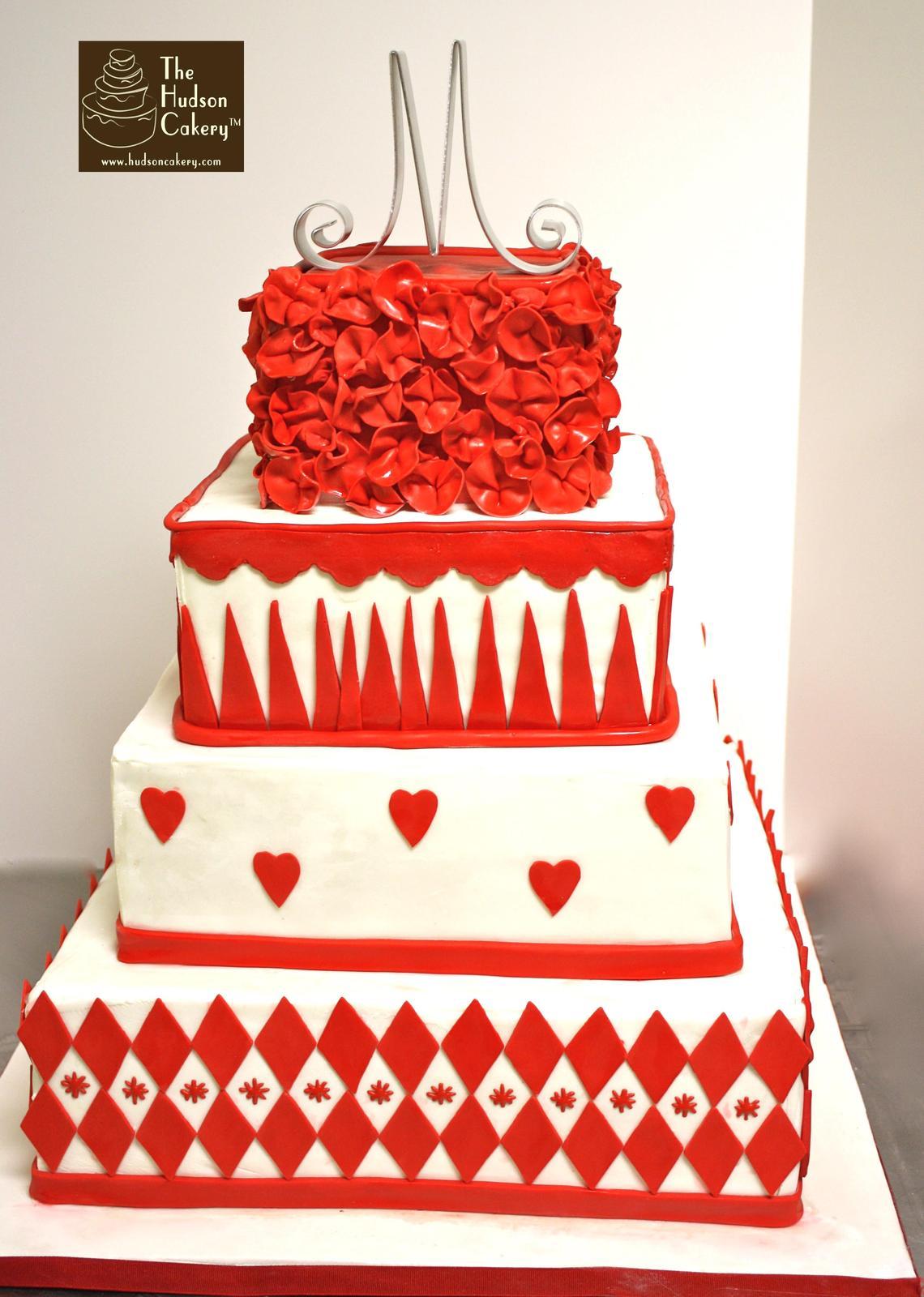 Červené torty inšpirácie - Obrázok č. 85
