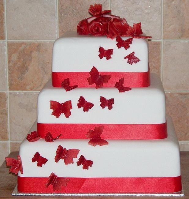 Červené torty inšpirácie - Obrázok č. 86