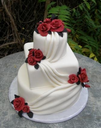 Červené torty inšpirácie - Obrázok č. 91