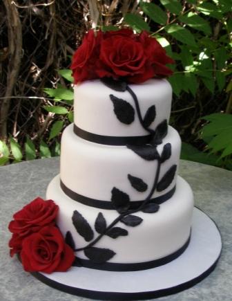 Červené torty inšpirácie - Obrázok č. 100