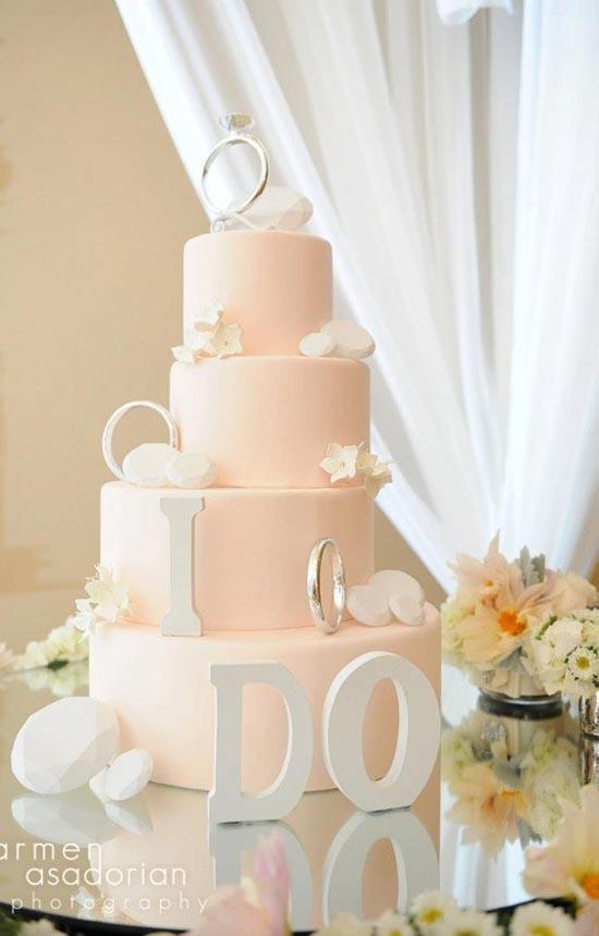 Ružové torty inšpirácie - Obrázok č. 76