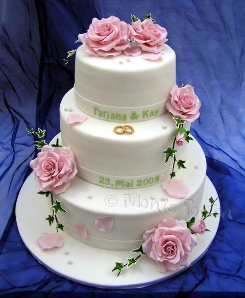 Ružové torty inšpirácie - Obrázok č. 83