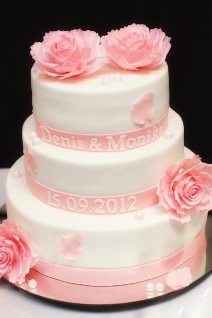 Ružové torty inšpirácie - Obrázok č. 84