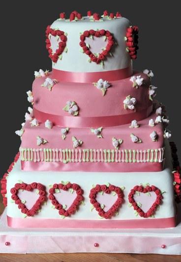 Ružové torty inšpirácie - Obrázok č. 87