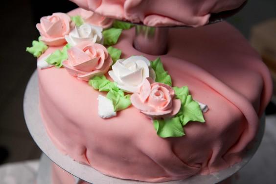 Ružové torty inšpirácie - Obrázok č. 88