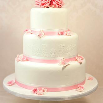 Ružové torty inšpirácie - Obrázok č. 89