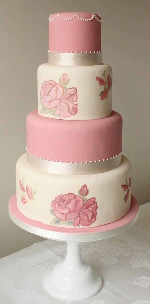 Ružové torty inšpirácie - Obrázok č. 90