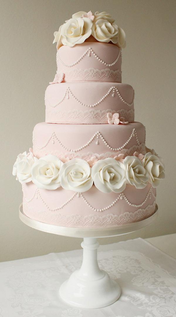 Ružové torty inšpirácie - Obrázok č. 91