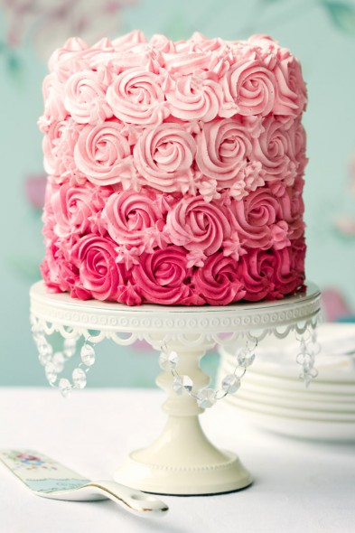 Ružové torty inšpirácie - Obrázok č. 92