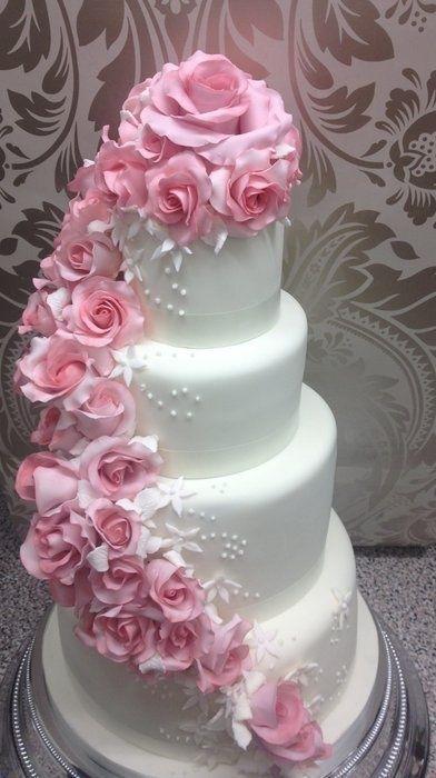 Ružové torty inšpirácie - Obrázok č. 93