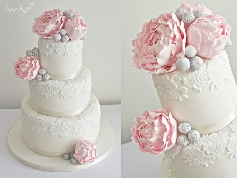 Ružové torty inšpirácie - Obrázok č. 94