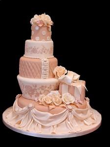 Ružové torty inšpirácie - Obrázok č. 95