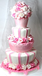 Ružové torty inšpirácie - Obrázok č. 96