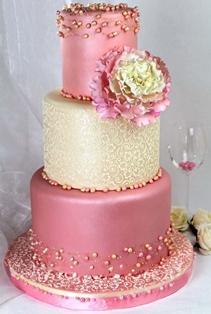 Ružové torty inšpirácie - Obrázok č. 97