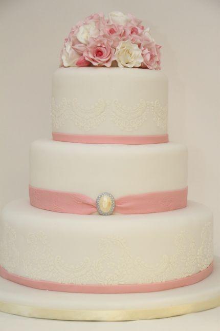 Ružové torty inšpirácie - Obrázok č. 99